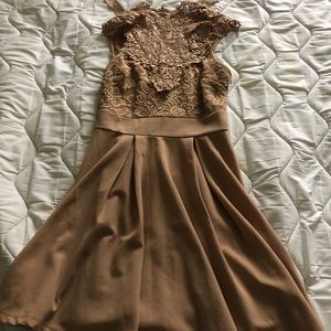 Tan Windsor Skater Dress